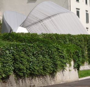 St. Gallen: entrance to cantonal emergency call center by Santiago Calatrava