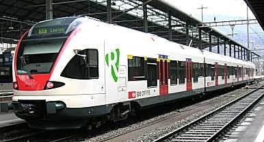 FLIRT regional train operated by Switzerland's Federal Railways [Olten main station]